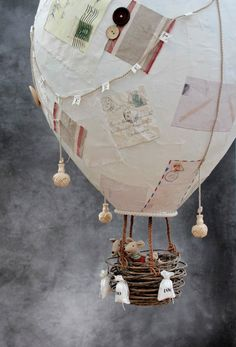 giant papier-mache hot air balloon