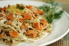 Linguine with Smoked Salmon and Herbed Sauce