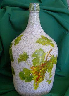 Atelier Arte e Lazer: Passo a passo - Decoração de um velho garrafão ♡