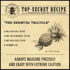 """Bermuda Triangle"" Kraken Rum. I added a bit of sprite to it, pretty good!"