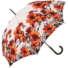 Red Poppy Umbrella by Jean Paul Gaultier - Brolliesgalore
