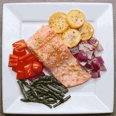 Enjoy! | Eat The Rainbow With This One-Pan Salmon And Rainbow Veggies