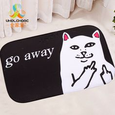 40x60cm/15.6x23.6'' Cool Cat Dog Mat Floor Carpet Letter Coral Fleece Rug Doormat For Hallway Non-slip 1PCS/Lot #>=#>=#>=#>=#> Click on the pin to check out discount price, color, size, shipping, etc. Save and like it!