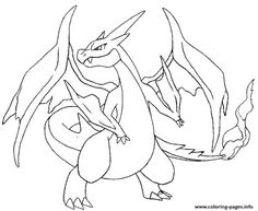 mega pokemon y evolved pokemon charizard coloring pages printable and coloring book to print for free find more coloring pages online for kids and adults