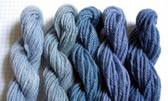 Yarn dyed with black beans