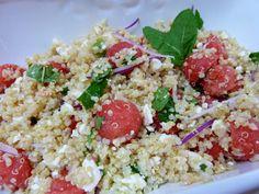 Fresh and healthy summer salad idea, Watermelon Feta Quinoa Salad