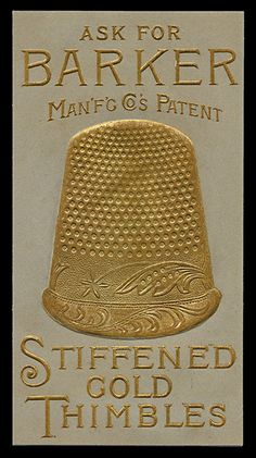 Barker Thimbles - I have my mother's old thimble and it looks just like this.