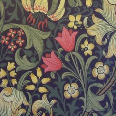 Made To Measure Curtains, Sanderson Fabrics & Wallpaper, Harlequin Fabrics & Wallpaper, > Morris & Co Wallpaper Golden Lily 210403