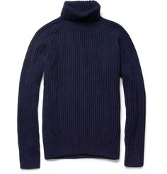 Ami Merino Wool and Cashmere-Blend Rollneck Sweater | MR PORTER