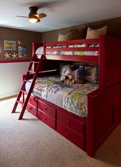 KIDS ROOM – boys room design, pictures, remodel, decor and ideas. Bunk Beds With Stairs, Cool Bunk Beds, Kid Beds, Boys Room Design, Boys Room Decor, Kids Bedroom, Room Boys, Bedroom Ideas, Double Deck Bed