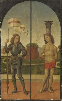 Saint George and Saint Sebastian / San Jorge y San Sebastián // Bartolomeo di Giovanni (1475-1511) // Alte Pinakothek
