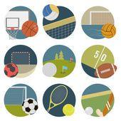 Sport icons — Vetor de Stock