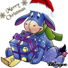 Eeyore holiday | eeyore christmas Picture #127388276 | Blingee.com