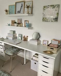 This is my daughter's workspace, where she does her homework. We've been redoing the shelves this weekend as she's decided she wants to… Study Room Decor, Bedroom Interior, Bedroom Design, Home Office Decor, Bedroom Decor, Home Decor, Dressing Room Decor, Room Makeover, Room Ideas Bedroom