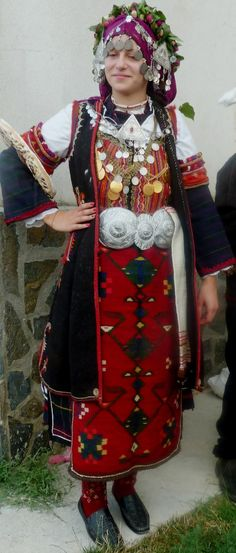 Traditional attire from Sandanski district - village of Lebnitsa. (Bulgaria)