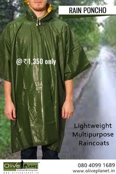 Buy high quality Poncho Rain Coats now at at Olive Planet India at best price. For more details: http://www.oliveplanet.in/poncho  #raincoatsonline #buyponchosindia #bestoutdoorponchos  #oliveplanet