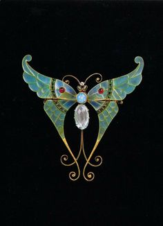 Brooch Boucheron circa 1900 Gold, rubies, opal and aquamarine Elizabeth Taylors antique brooch ~ elena romero