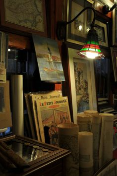 Old maps shop, Ortakoy, Istanbul.