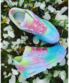 reputable site 1a730 229f4 Cheap Nike Air Max 90 Candy Drip Womens Trainers In Lovely Pink Rainbow  Rainbow Nikes,