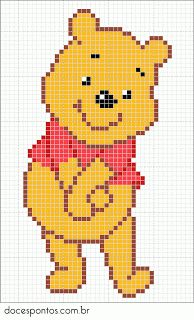 Winnie the Pooh pattern - Crochet / knit / stitch charts and graphs