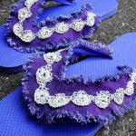 Craft: Denim & Lace Flip Flops