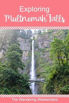 Exploring Multnomah Falls- a perfect day trip from Portland, Oregon.