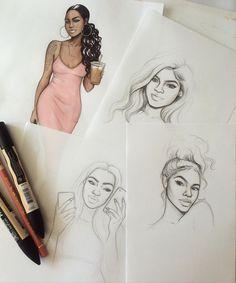 Recent sketches ✨ #sketch #fashionsketch #fashiondrawing #fashionillustration…