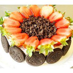 Torta Negresco com morango #confeitariapolos (em Polos Pães e Doces)