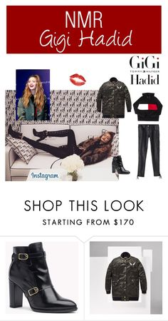 """""""Outfit #555"""" by nmr135 ❤ liked on Polyvore featuring StreetStyle, redlips, gigihadid, nmr and tommyxgigi"""