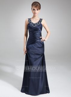 Mother of the Bride Dresses - $148.99 - Sheath/Column Scoop Neck Floor-Length Charmeuse Mother of the Bride Dress With Ruffle Beading (008022559) http://jjshouse.com/Sheath-Column-Scoop-Neck-Floor-Length-Charmeuse-Mother-Of-The-Bride-Dress-With-Ruffle-Beading-008022559-g22559?snsref=pt&utm_content=pt