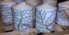 Lumanari personalizate cu harti