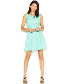 Maison Jules Sleeveless Scoop-Neck Sparkle Flared Dress   macys.com