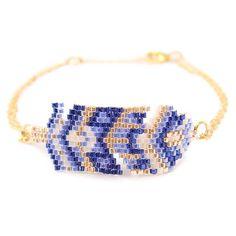 """Bracelet ethnique chic """"Sweet Plume Bleue"""" : Bracelet par amy-jewels"""