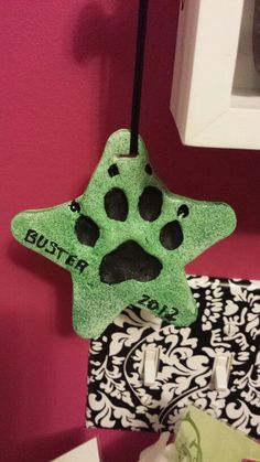Pet print christmas ornament