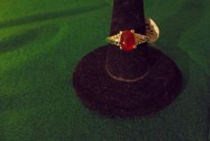 RED MALAYSIA JADE SILVER WOMAN'S RING