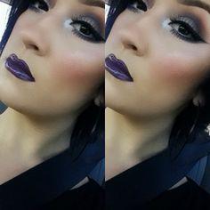 purple lips..pretty makeup