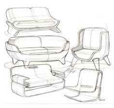 Sofa sketches #id #design #product #sketch #furniture