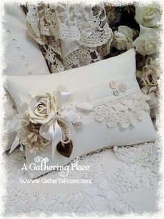 Rose French Pocket Sachet Pillow - Sachets - A Gathering Place
