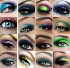 Eyeshadow ideas.