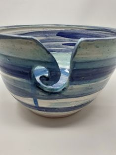 Sea inspired yarn bowl for all you knitters / crochet lovers www.shopinireland.ie/store/skellig-pottery/ #knittersofinstagram #yarn #knit #knitstagram #crochet #knittingaddict #handmade #yarnaddict #handdyedyarn #yarnlove #crochetersofinstagram #knittersofig #buyhandmade #supporthandmade #shophandmade Yarn Bowl, Crocs, Serving Bowls, Decorative Bowls, Lovers, Pottery, Sofa, Inspired, Tableware