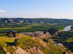 """THEODORE ROOSEVELT NATIONAL PARK  North Dakota    The Riverbend Overlook offers the most stunning views of the """"North Unit"""" of Theodore Roosevelt National Park, the North Dakota Badlands. The shelter there dates back to 1937."""