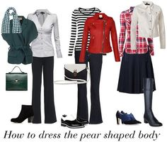How to dress a pear shaped body