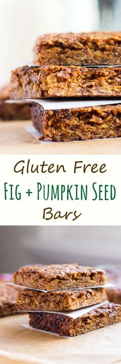 Fig & Pumpkin Seed Bars are gluten free, freeze well and are perfect to pack into a lunchbox or to grab as an emergency snack.