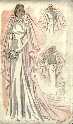 1930s wedding dress--this looks so much like my mother's wedding gown.