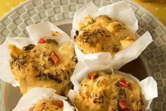 Hartige muffins met paprika en fetakaas