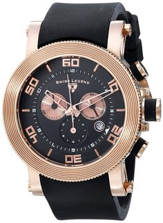 Swiss Legend Men's 30465-RG-01 Cyclone Analog Display Swiss Quartz Black Watch ** You can find out more details at the link of the image.