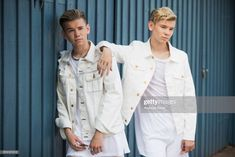 Pop singers Marcus & Martinus pose for a portrait session before honouring Crown Princess Victoria on the ocassion of her birthday at Victoriagarden on July 2017 in Borgholm, Sweden. Get premium, high resolution news photos at Getty Images Instagram 2017, I Go Crazy, Princess Victoria, Pop Singers, Handsome Boys, Portrait, Stock Pictures, Royalty Free Photos, Photo Sessions