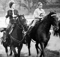 {*Priscilla Lisa Marie Presley out horse riding*}