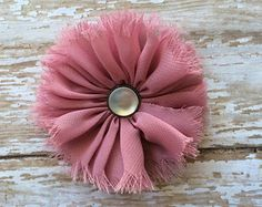 Frayed Chiffon Flower Hair Clip