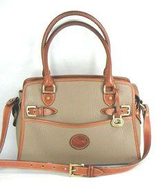 Authentic Dooney   Bourke Vintage Buckle Satchel taupe and British tan.  Leather BuckleDooney BourkeTaupeSatchelDesigner HandbagsWeatherSatchel ... 231461c8999d8